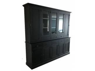 Buffetkast XL zwart - grijs 280 x 50/40 x 235cm