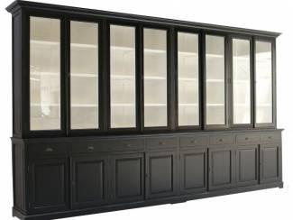 Grote XXXL zwarte buffetkast 400 x 240cm