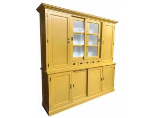 Buffetkast geel - wit 240 x 50/40 x 230cm
