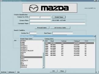 MAZDA EPC 2017/2018 Onderdelen PARTS Software op 4xdvd