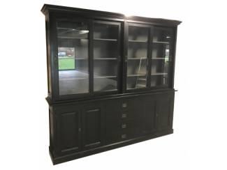 Zwarte buffetkast met grijze binnenkant 240 x 220