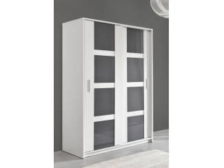 Hoogglans Wit Garderobekast.Voorraad Moderne Kledingkast 140 Of 200 Cm Hoogglans Panelen