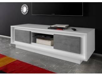 ACTIE Modern wit betonlook tv-meubel Sky NU 319 NIEUW