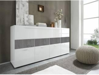 Modern hoogglans wit dressoir Linea Gloss 160 cm NIEUW