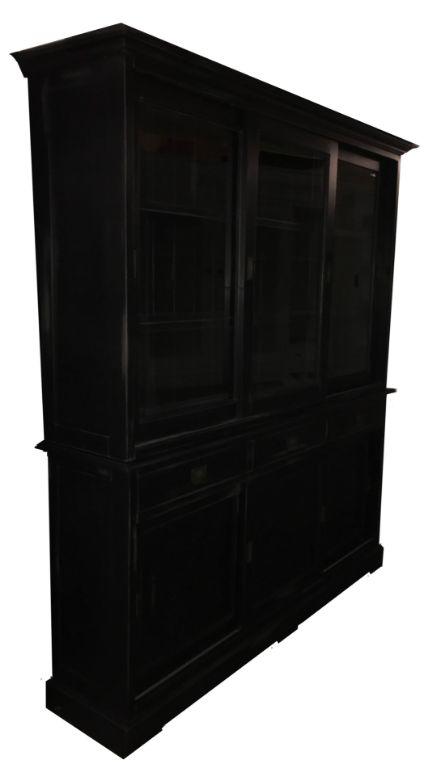 Landelijke Buffetkast Zwart Geschuurd 180 X 220cm Kasten