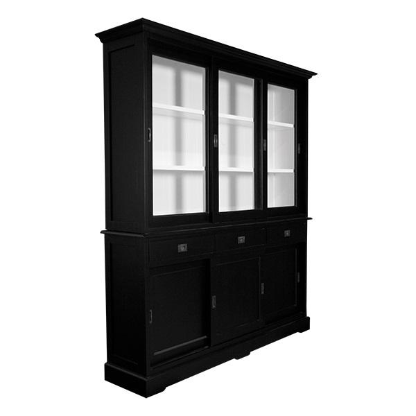 Zwarte Buffetkast Witte Binnenkant 180 X 220cm Kasten En