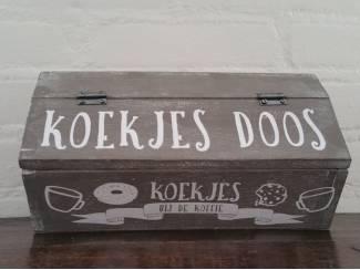 Houten koekjesdoos box