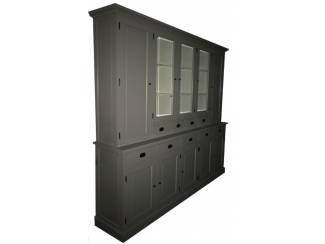 Buffetkast XL grijs - wit 280 x 50/40 x 235cm