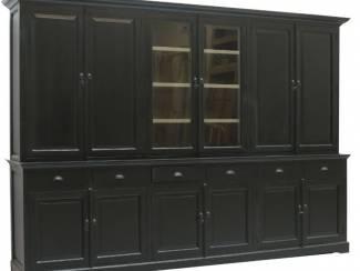 Buffetkast zwart 310 x 220cm dichte zijdeuren