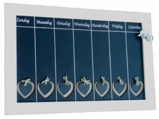 Grote weekplanner met harten