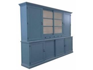 Buffetkast Gieten XL oud blauw 310 x 50/40 x 230cm