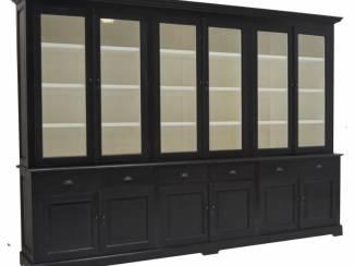 Winkelkast Oosterwolde zwart 340 x 50/40 x 240cm