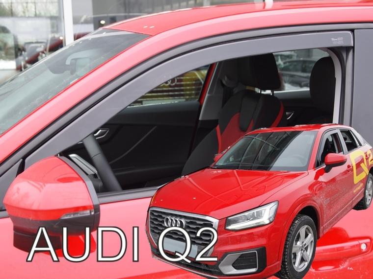 Zijwindschermen Audi pasvorm getinte raamspoilers oa A4 Heko