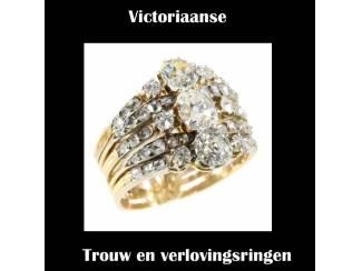 Gouden trouwringen met diamant uit de antieke tijd