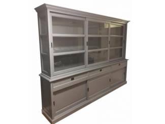 Buffetkast grijs - grijs 300 x 50/40 x 220cm