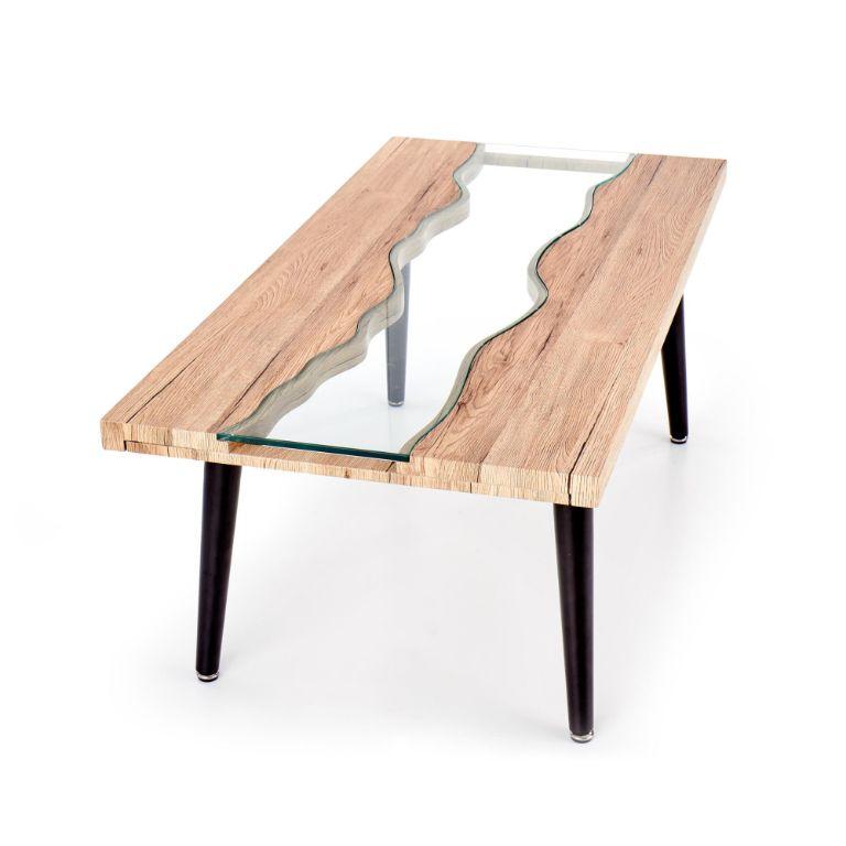 Glazen Moderne Salontafel.Actie Moderne Stoere Salontafel Met Glas Nu 169 Nieuw Tafels