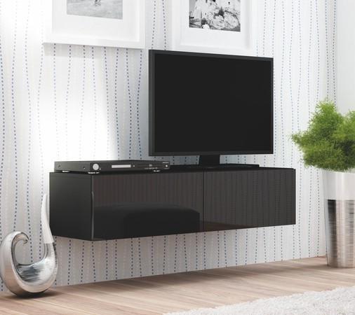 Modern Tv Meubel Zwart.Actie Modern Zwevend Tv Meubel Lido 160cm Zwart Of Wit Nieuw