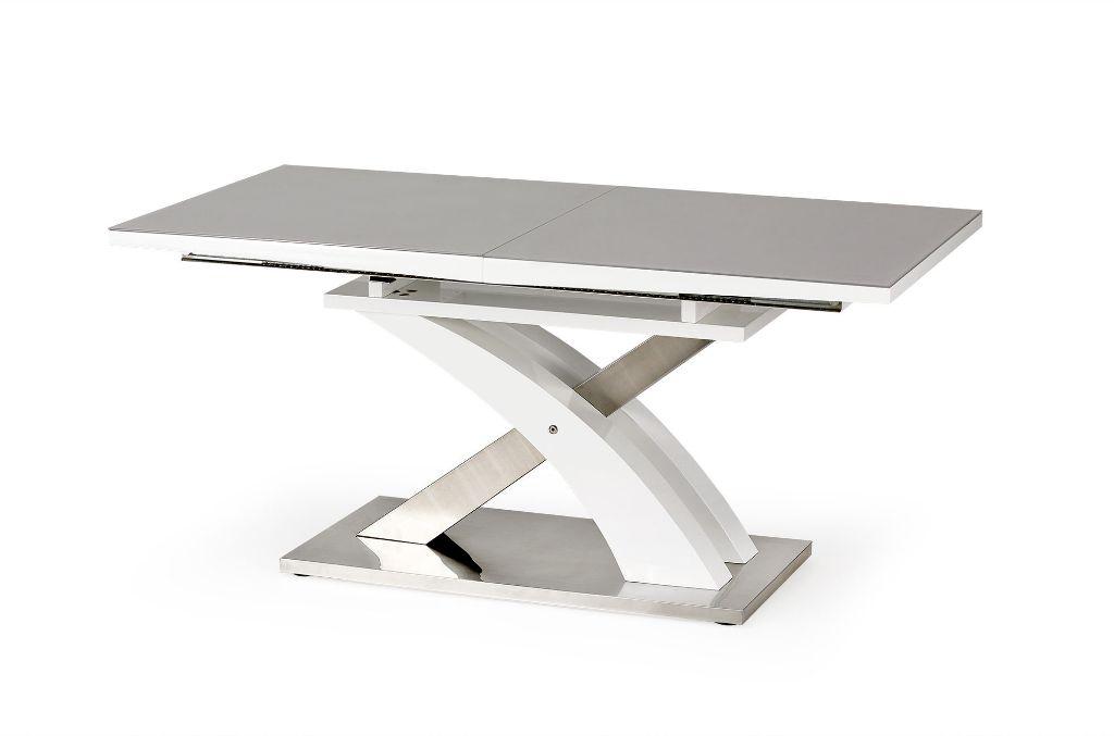 Witte Eettafel Uitschuifbaar.Actie Moderne Uitschuifbare Eettafel Sandor Hoogglans Wit