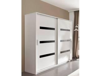 Witte Hoogglans Kledingkast.Voorraad Moderne Witte Kledingkast 140 Of 200 Cm Breed Nieuw