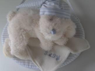 Babybenodigheden PLUCHE BEER BABY BLAUW 32 STUKS Appletree NIEUW