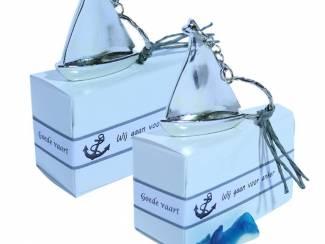 Traktatie Bedankjes Snoepzakje met gratis sleutelhanger bootje