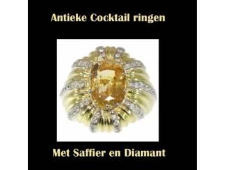 Oogverblindende antieke diamanten trouwring.