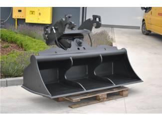 Bouwmachines Slotenbak hydro 2 cilinders NIEUW. Diverse bakken en uitrusting g
