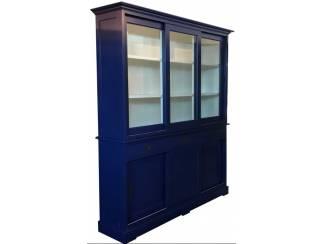 Blauwe landelijke buffetkast 180 x 220cm