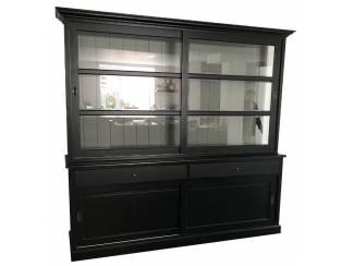 Buffetkast zwart - grijs 240 x 50/40 x 220cm