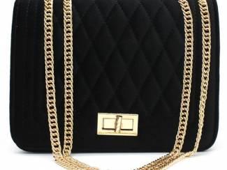 Zwarte clutch van velvet van het merk brakelenzo nu 24.99