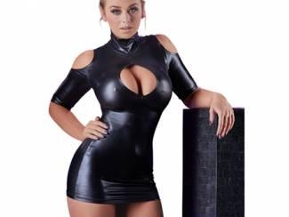 Wetlook Mini Jurkje - Zwart