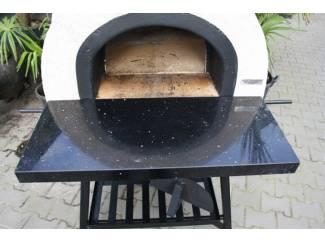 Houtgestookte tuinoven / pizzaoven AD 70 AMALFI black front