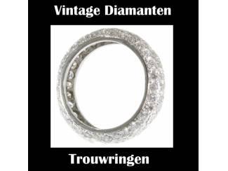 Vintage trouwring met oogverblindend mooie diamant