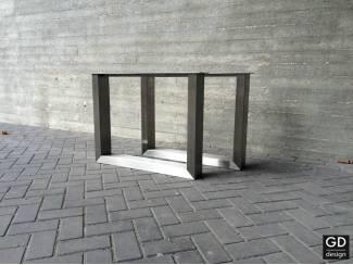 Moderne RVS tafelpoten U vorm op maat! Keuze uit 12 pootdikten!
