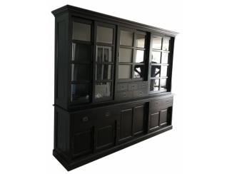 Buffetkast XL zwart - zwart 285 x 55/45 x 235cm