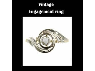 Gouden vintage engagement ring
