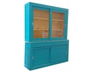 Design buffetkast turquoise - geel 180 x 220cm