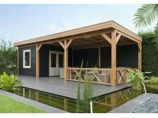 Tuinhuis-Douglasvison Buitenverblijf, modern met plat dak(40037):