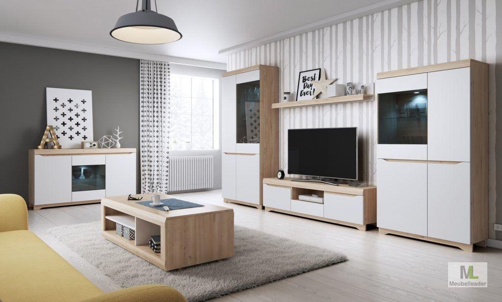 actie woonkamer milaan complete set bij meubelleader