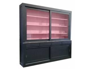 ZWarte design buffetkast binnen roze 20 x 240cm