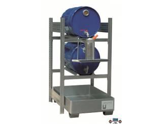 Vloeistof opvang & afgifte rek 2 x 60L AFP 650/1