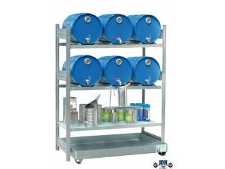 Vloeistof opvang & afgifte rek 6 x 60L AFP 1350/4