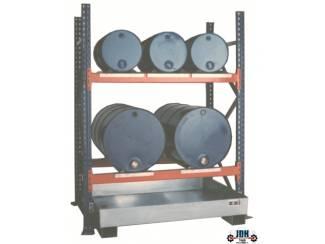 Vloeistof opvang & afgifte rek 3 x 60L en 2 x 200L AFP 1620/2