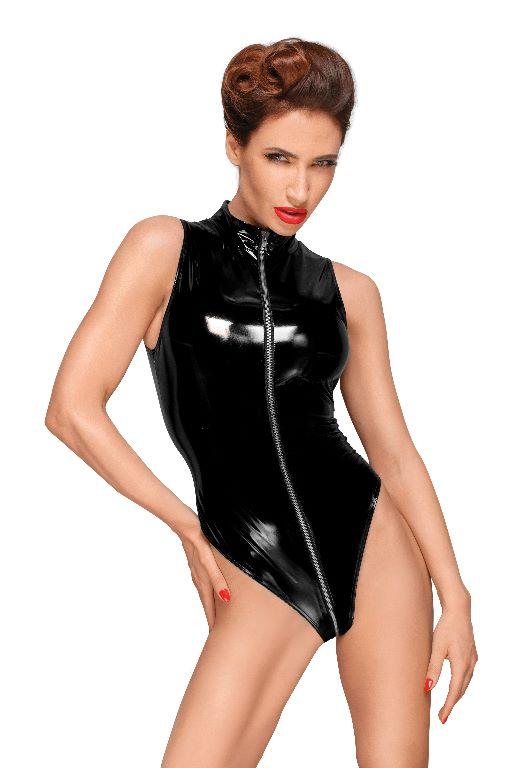 PVC Body met 3-weg Rits Zwart - S t/m 3XL