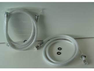 DOUCHESLANG 1,50 MTR PVC WIT 10 stuks NIEUW