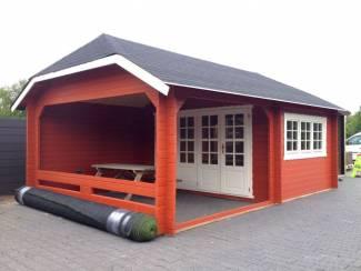 Tuinhuisjes, Blokhutten en Kassen Tuinhuis-Blokhut W4x3+3: 410 x 615 x 325 (h)