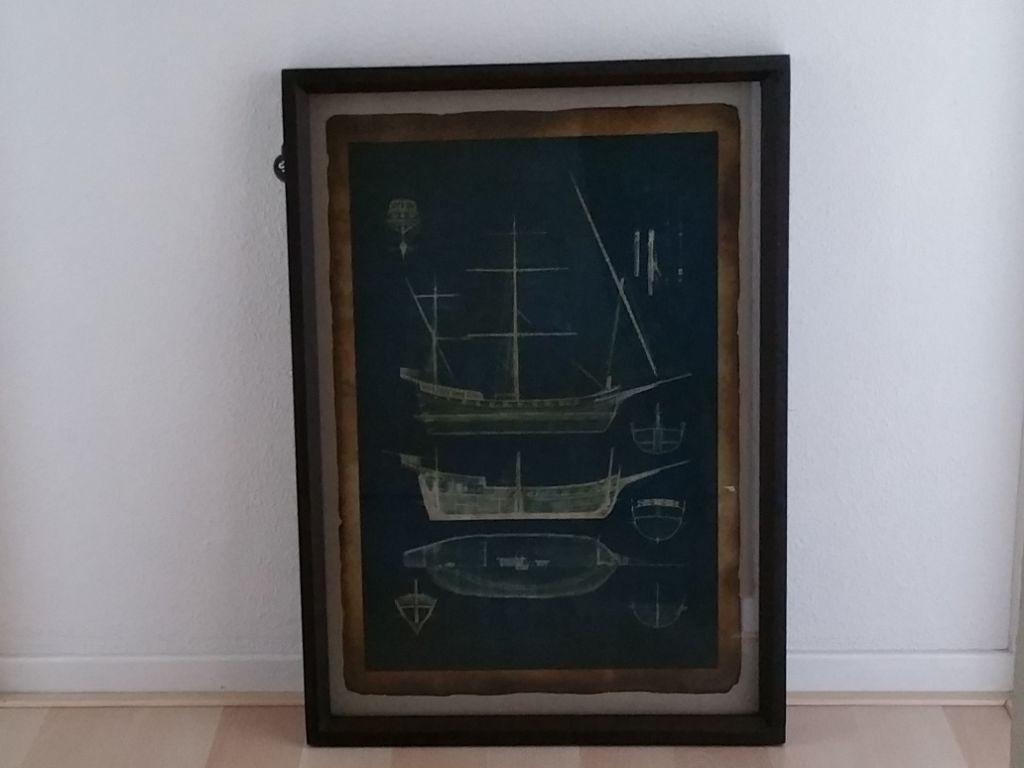 Schilderij zeilboot accessoires en decoratie for Decoratie zeilboot
