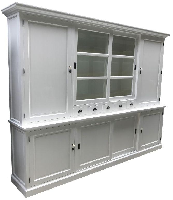 Winkelkast dichte zijdeuren XL wit 300 x 220cm