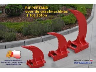 Rippertand, multirippers, uitrusting graafmachines
