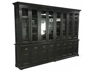 Buffetkast XL zwart - zwart 350 x 50/40 x 240cm